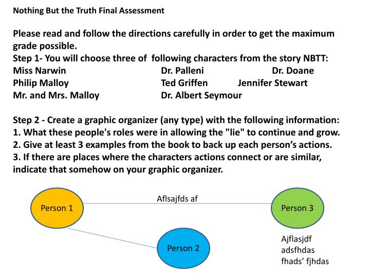 nothing but the truth essay questions cf nothing but the truth essay questions