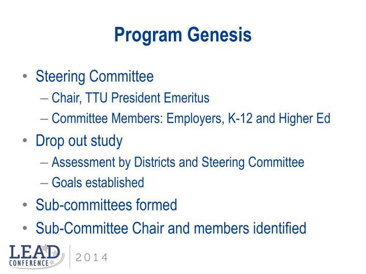 Program Genesis