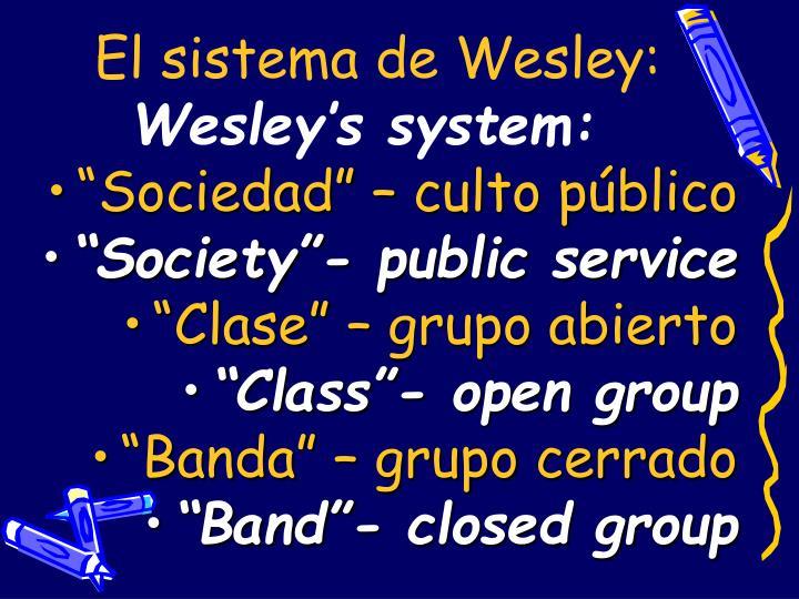 El sistema de Wesley: