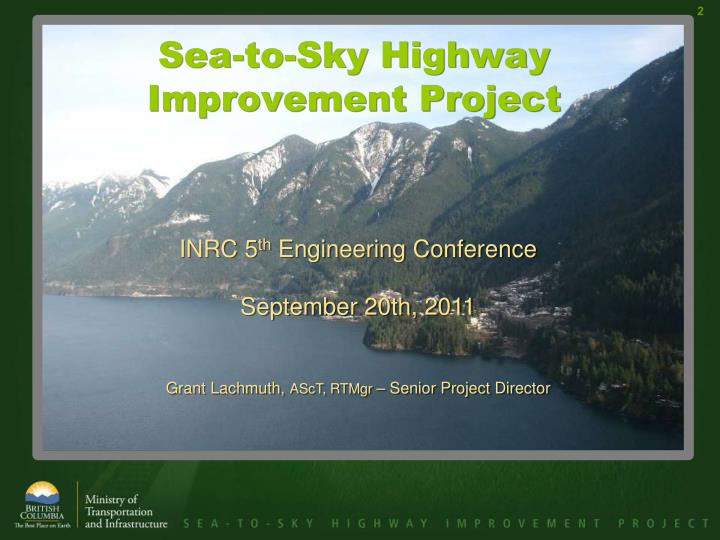 Sea to sky highway improvement project