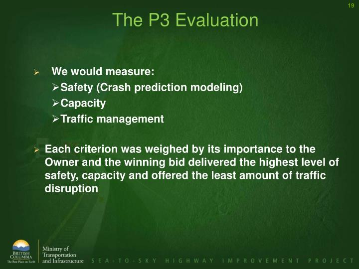 The P3 Evaluation