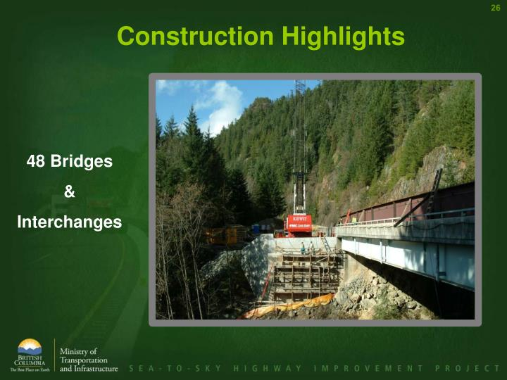 Construction Highlights