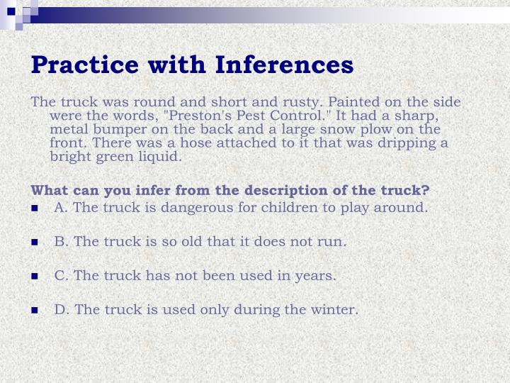 Practice with Inferences