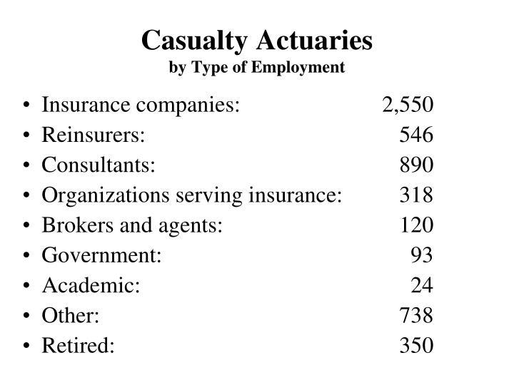 Casualty Actuaries