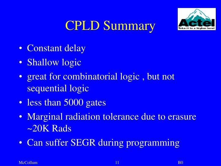 CPLD Summary