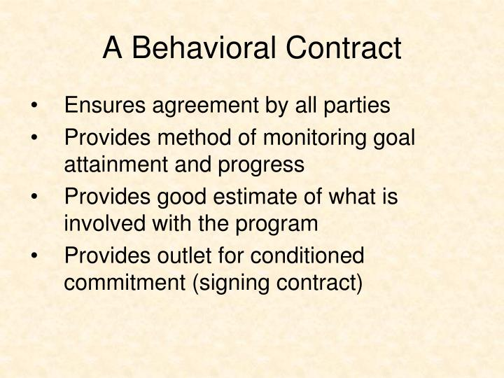 A Behavioral Contract