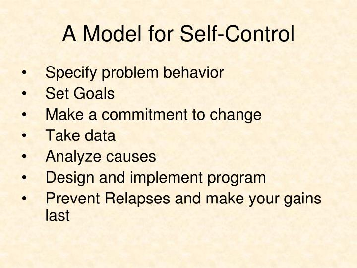 A Model for Self-Control