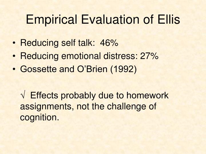Empirical Evaluation of Ellis