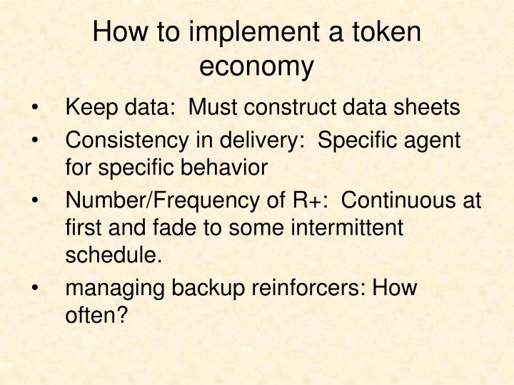 How to implement a token economy