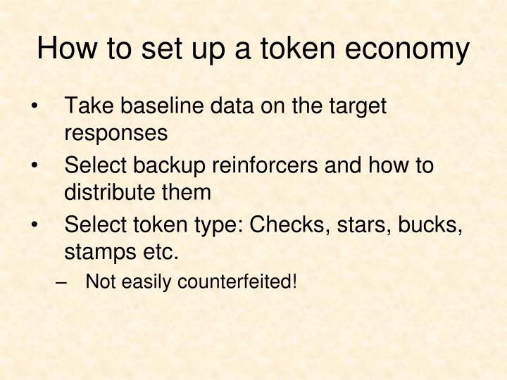 How to set up a token economy