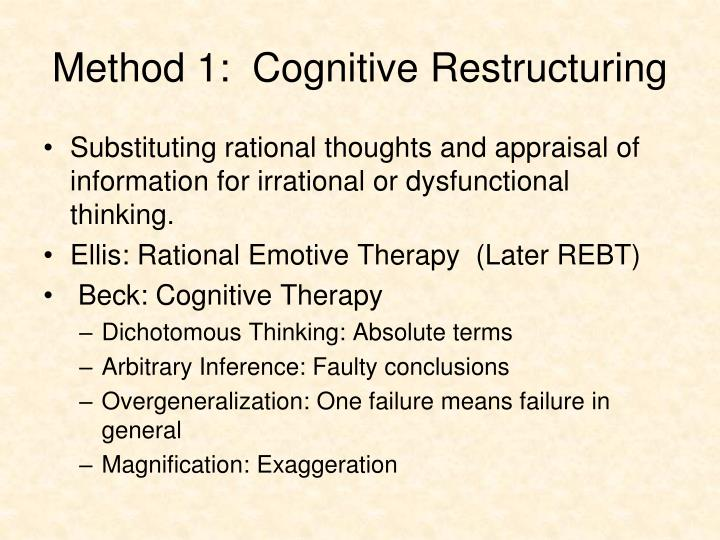 Method 1:  Cognitive Restructuring