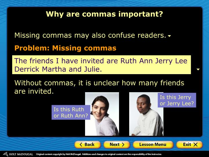 Why are commas important?