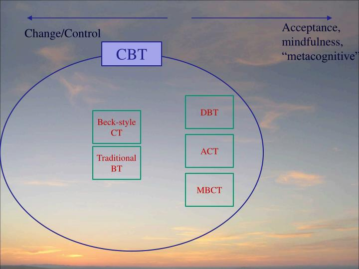 "Acceptance, mindfulness, ""metacognitive"""