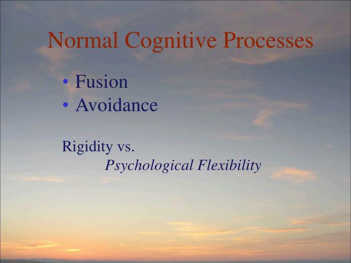 Normal Cognitive Processes