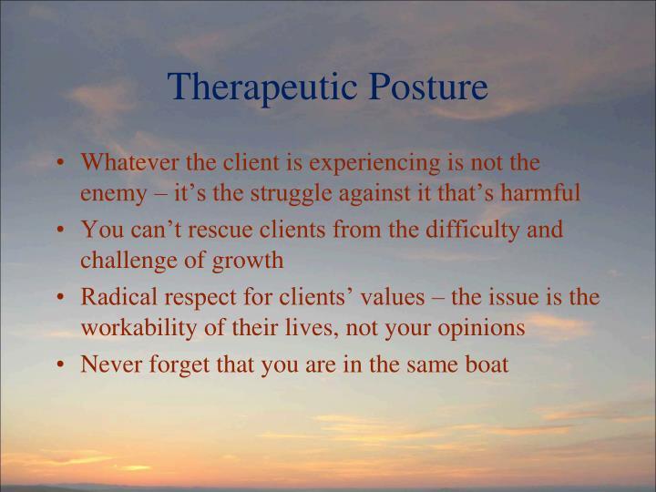 Therapeutic Posture