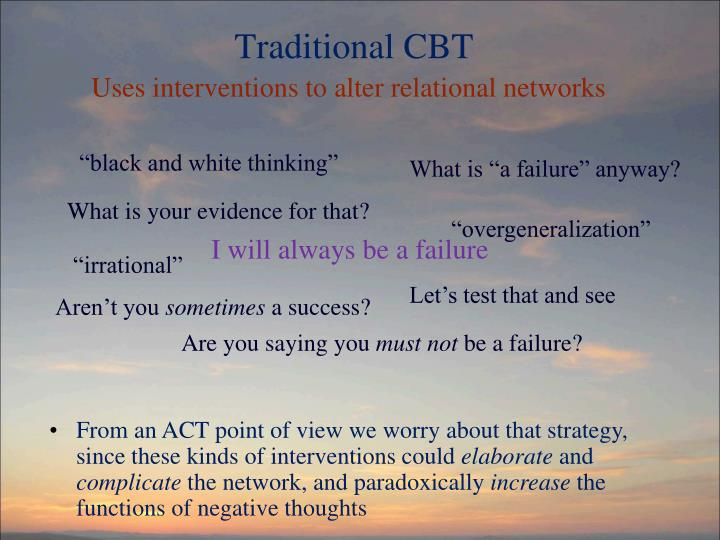Traditional CBT