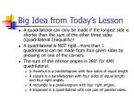 big idea from today s lesson