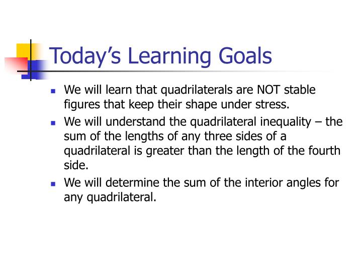 Today s learning goals