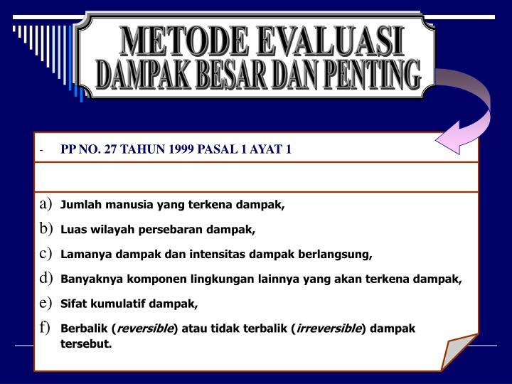 PP NO. 27 TAHUN 1999 PASAL 1 AYAT 1