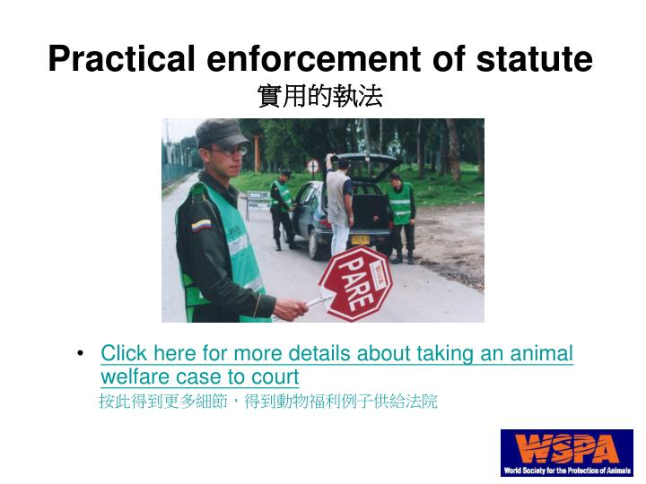 Click here for more details about taking an animal welfare case to court