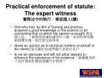 practical enforcement of statute the expert witness