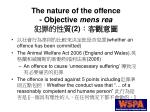 the nature of the offence objective mens rea 2
