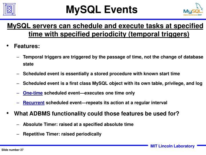 MySQL Events