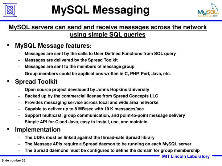 MySQL Messaging
