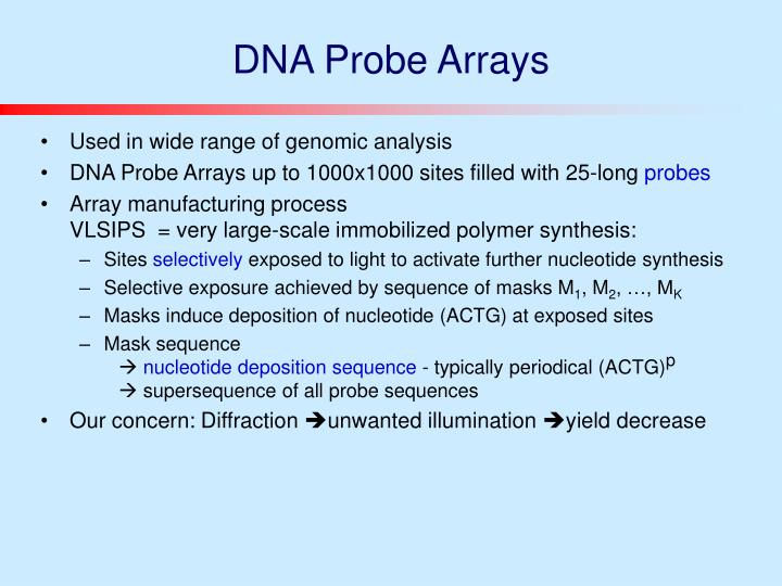 Dna probe arrays