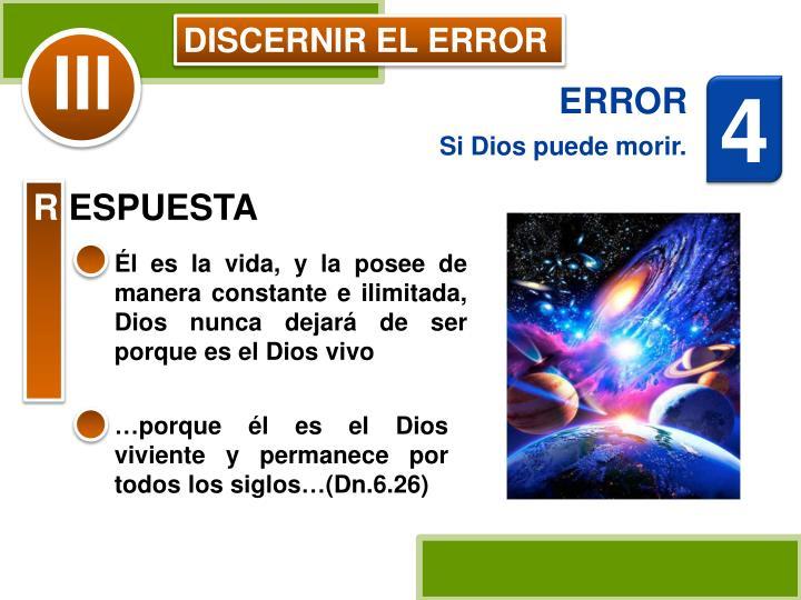 DISCERNIR EL ERROR