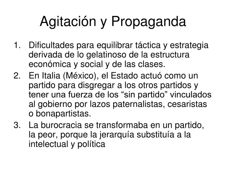 Agitación y Propaganda