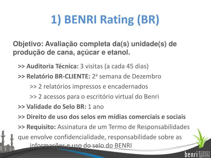 1) BENRI Rating (