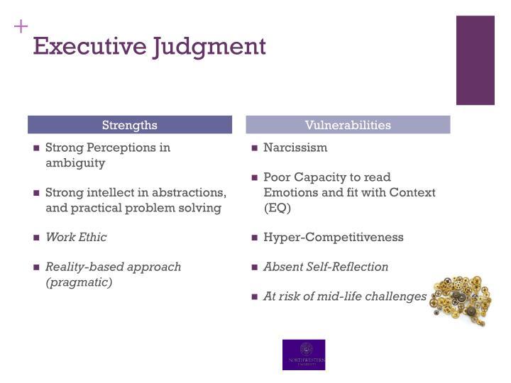 Executive Judgment
