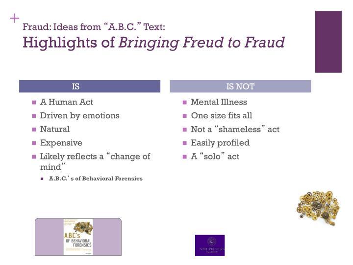 Fraud: Ideas from