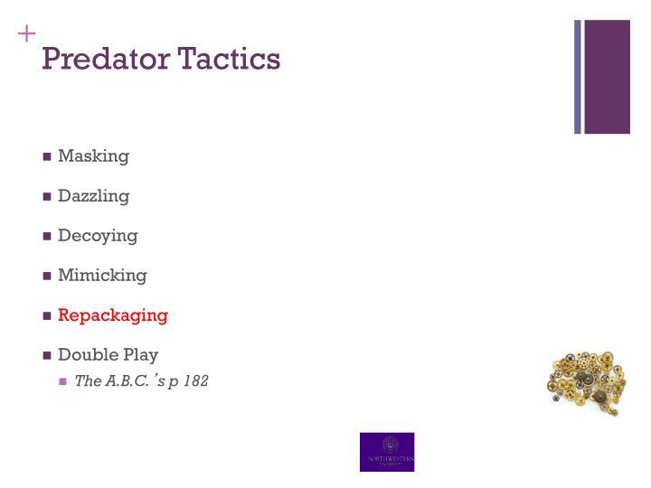 Predator Tactics