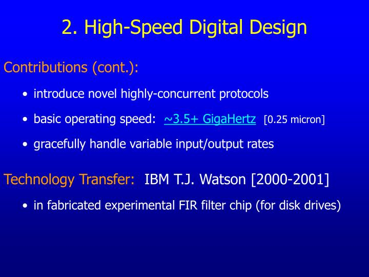 2. High-Speed Digital Design