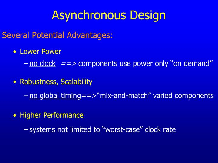 Asynchronous Design