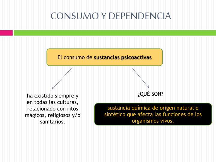 CONSUMO Y DEPENDENCIA