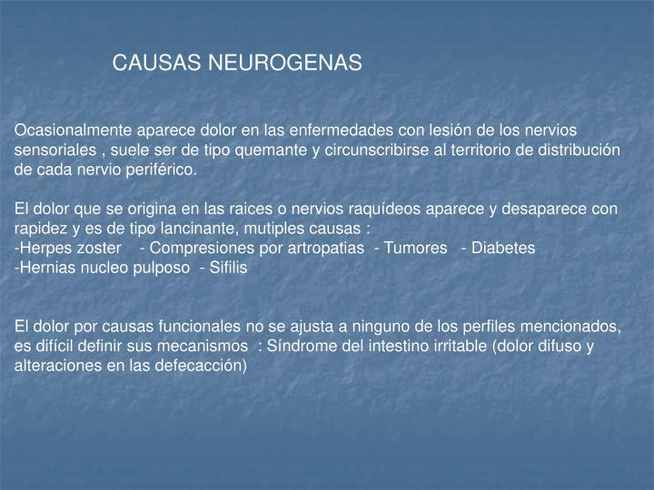 CAUSAS NEUROGENAS