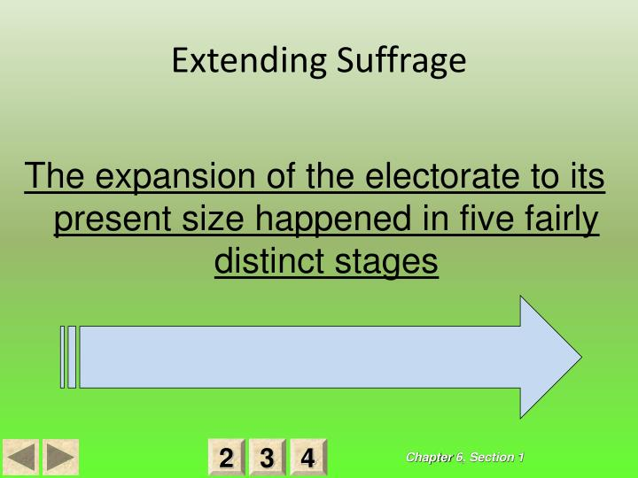 Extending Suffrage