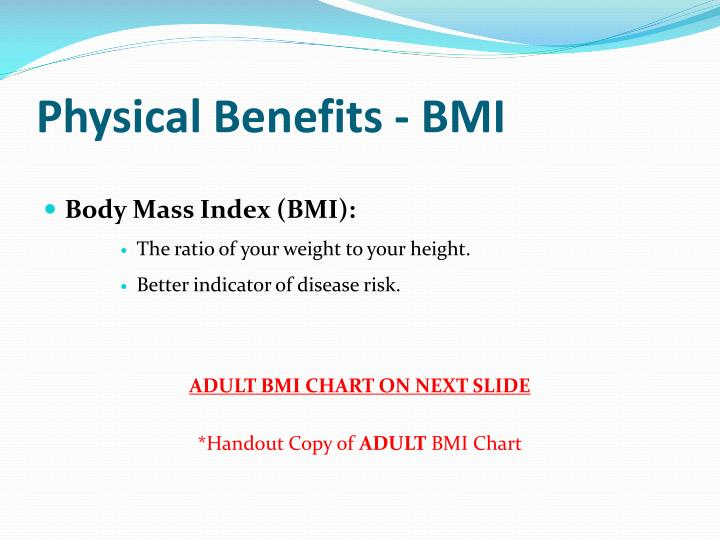 Physical Benefits - BMI