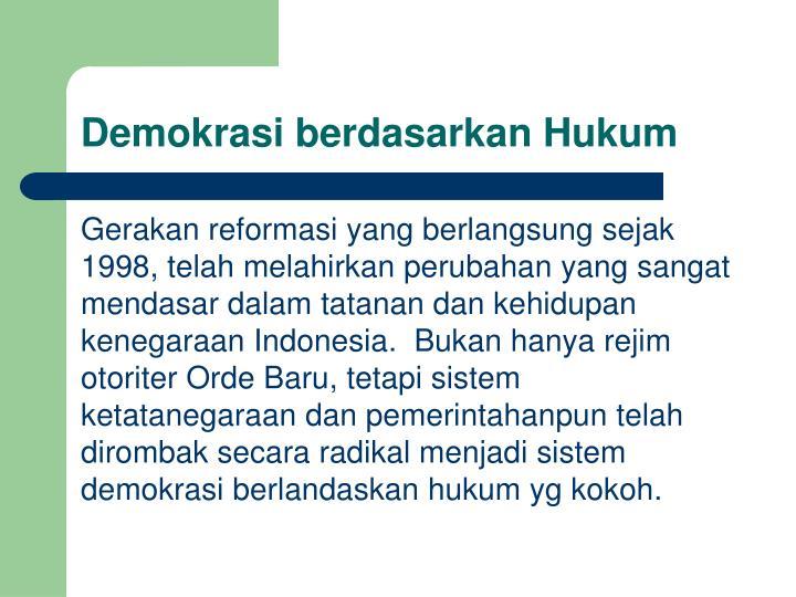 Demokrasi berdasarkan Hukum