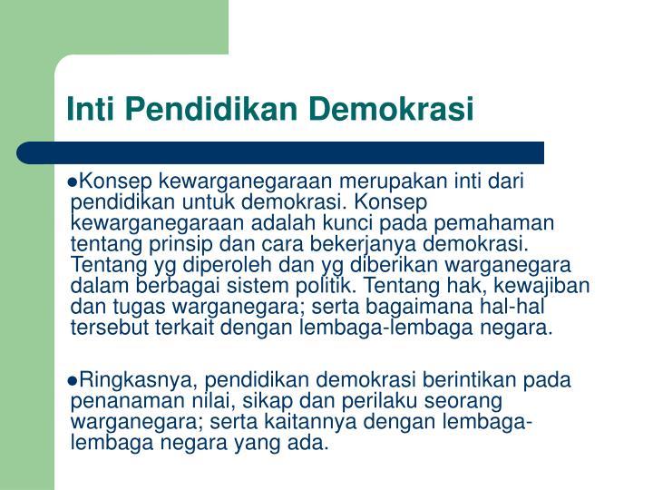 Inti Pendidikan Demokrasi