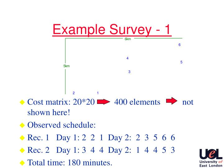 Example Survey - 1