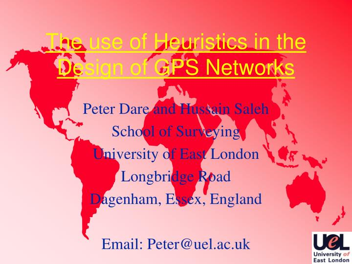 The use of heuristics in the design of gps networks
