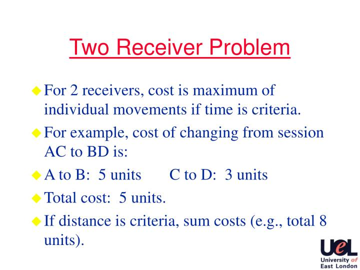 Two Receiver Problem