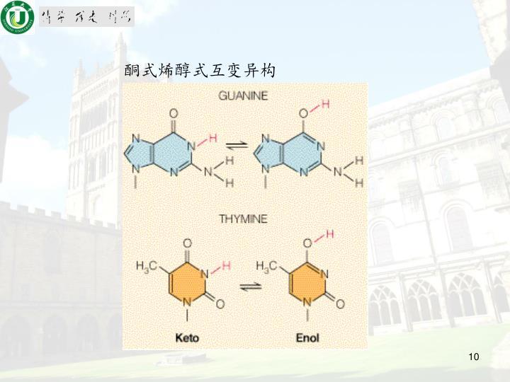 酮式烯醇式互变异构