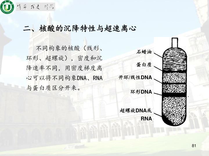 二、核酸的沉降特性与超速离心