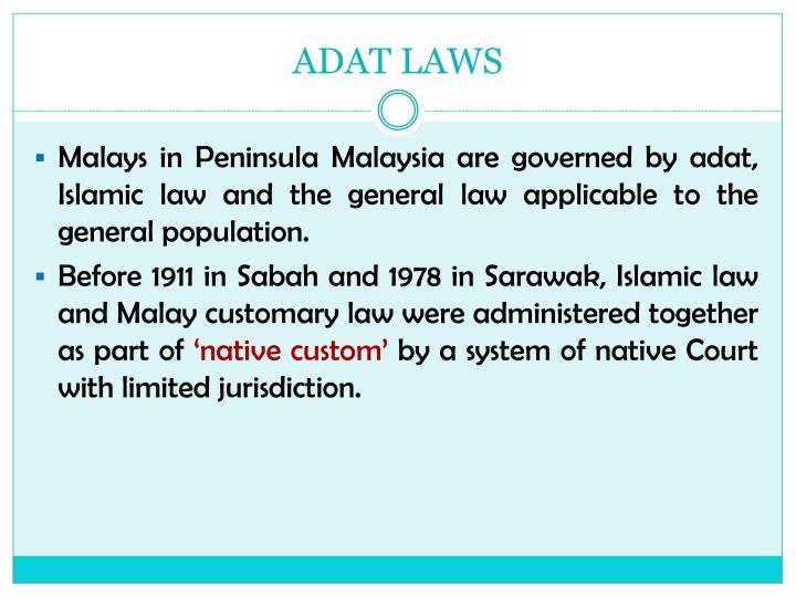 ADAT LAWS