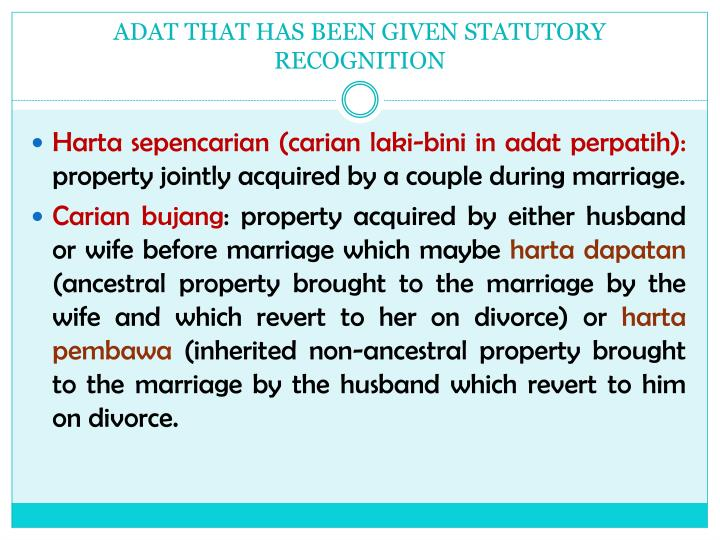 ADAT THAT HAS BEEN GIVEN STATUTORY RECOGNITION